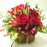 Attractive12 Red Roses basket