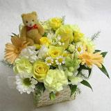 Special Flower Basket with a Teddy