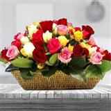 Vibrant Roses Basket