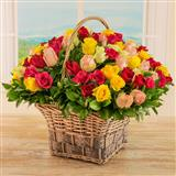 Sensational Roses Basket