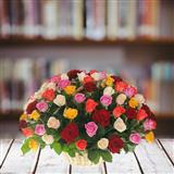 Multicolor Roses Basket