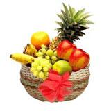 Fruits in a Cute Round Basket