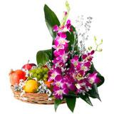 Fruits and Orchid Tray