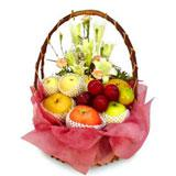 Fruit With Flowers in a beautiful basket