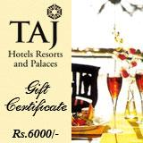 Taj Gift Voucher for Rs.6000/-