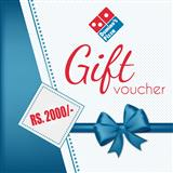 Dominos Gift Vouchers Rs. 2,000/-