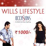 Wills Lifestyle Gift Vouchers Rs. 1,000/-