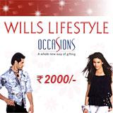 Wills Lifestyle Gift Vouchers Rs. 2,000/-