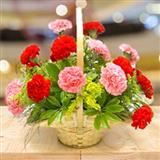 Carnation Arrangement In Basket