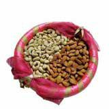 Decorative Kaju Almond Thali - 1/2 Kg.