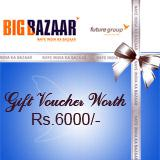 Big Bazar Gift Voucher Rs 6000