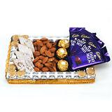 Tray with Chocolate, Dryfruits and Sweets