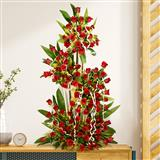 100 Red Rose Tall  Basket