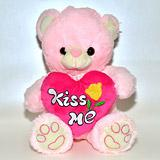 Send 'Kiss Me' Teddy Love Hearts to Bhavnagar