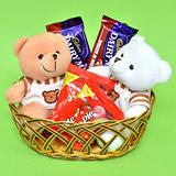 Send Basket of Teddy N Chocolates Chocolate Hampers to Bhavnagar