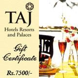 Taj Gift Voucher for RS 7500/-