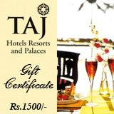 Taj Gift Vouchers Rs 1500/-