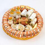 Gorgeous Round Shaped Thali With Sweets