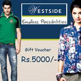 Westside Gift Voucher Worth Rs 5000/-