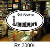 Landmark Gift Voucher Worth Rs 3000/-