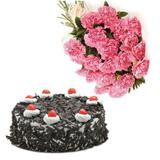 Cake with Carnation