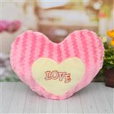 Pink Colored Heart Shaped Cushion