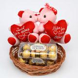 Send Ferrero Rocher & Teddies Chocolate Hampers to Bhavnagar