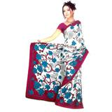 Stylish Crepe Jacquard Saree