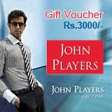 John Players Gift Vouchers Rs.3000/-