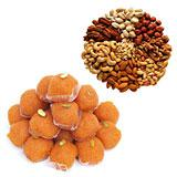 Festive sweets and dry fruits Hamper