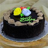 Birthday Chocolate Truffle Cake - 1kg