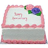 Anniversary Strawberry Cake-1Kg