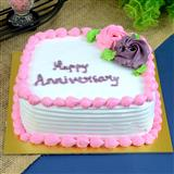 Anniversary Strawberry Cake-1/2 Kg