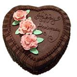 Anniversaryr Heart Shaped Cake