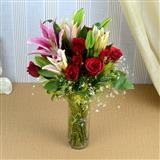 Exotic arrangement of flowers